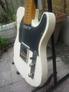 White Tele with black guard